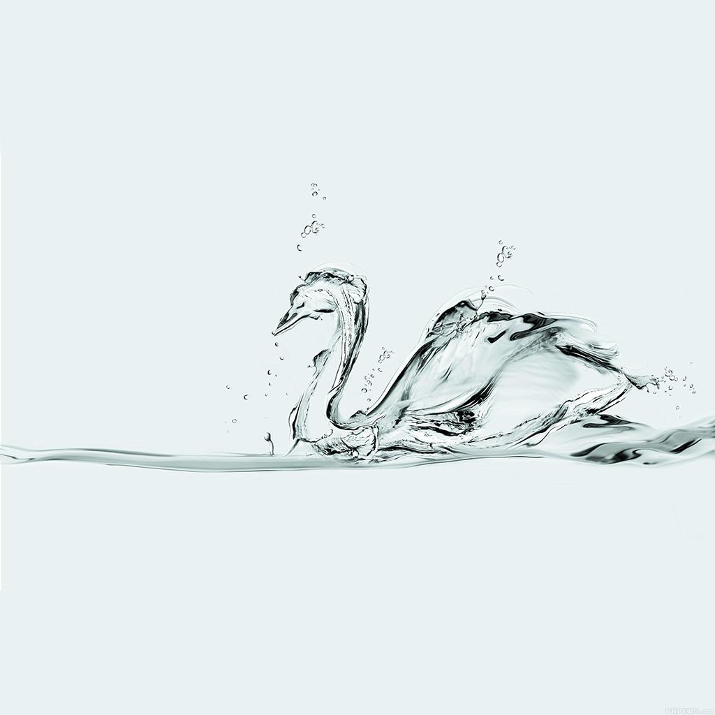 android-wallpaper-ai37-water-swan-white-drop-art-illust-wallpaper