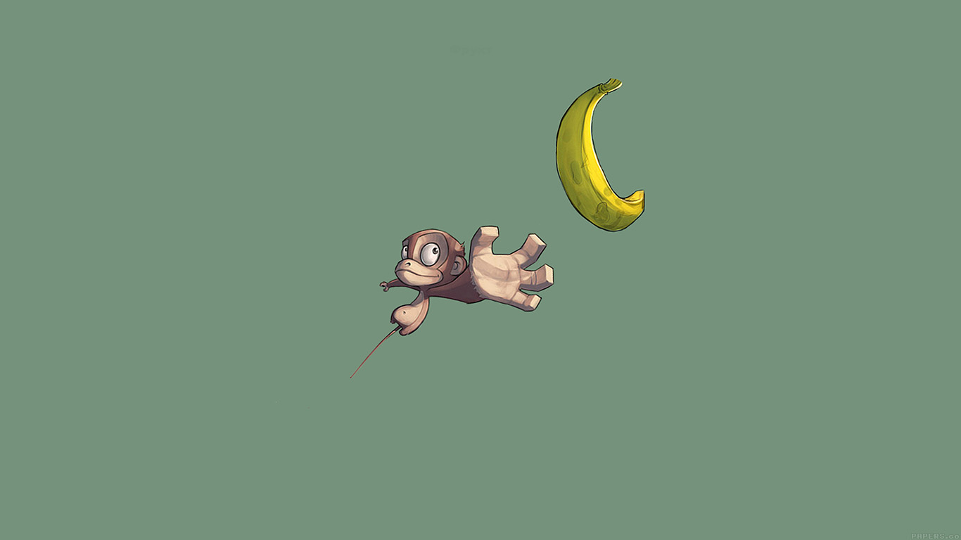 wallpaper-desktop-laptop-mac-macbook-ai39-monkey-banana-love-illust-art-minimal-wallpaper