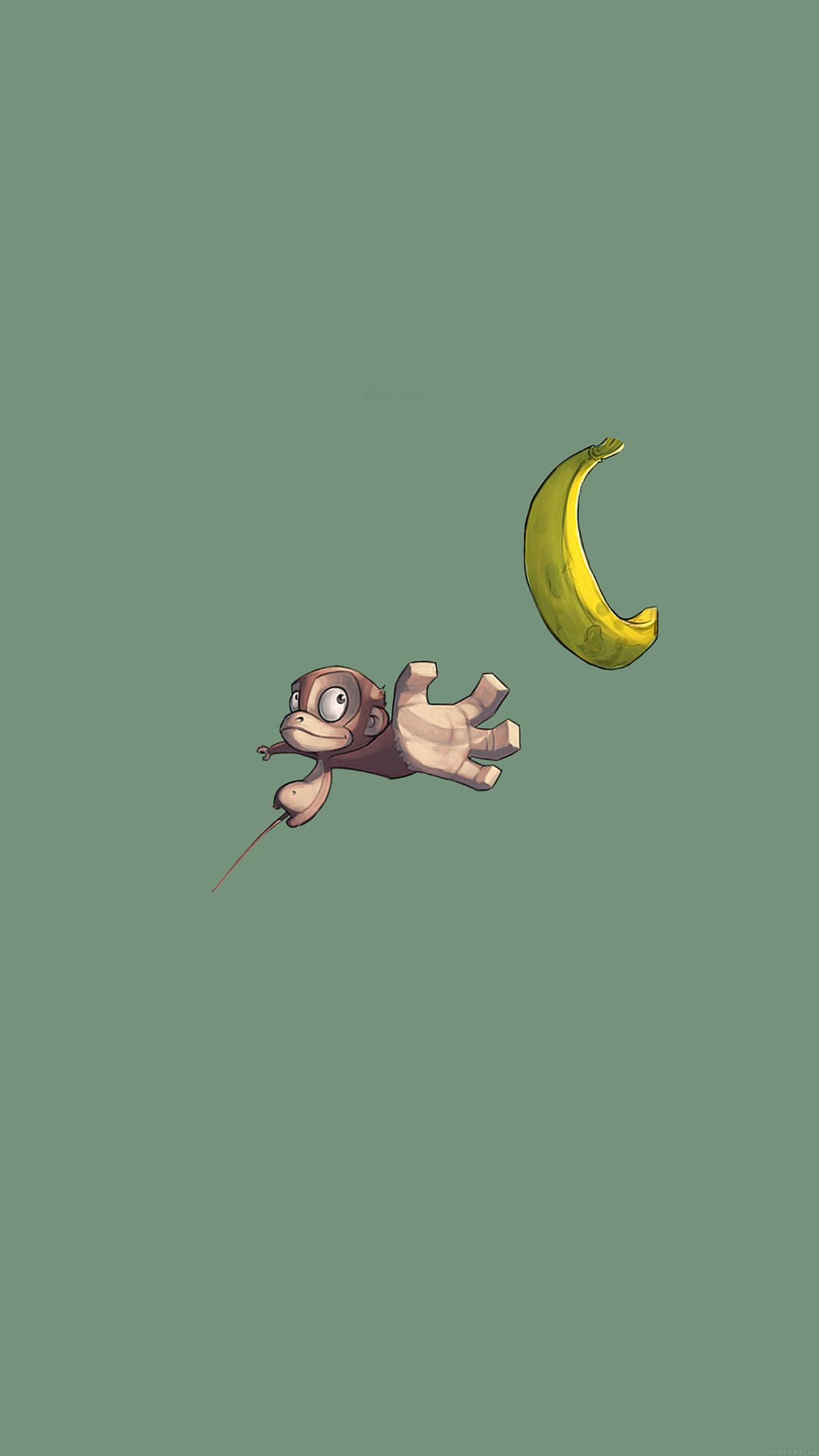 I love papers ai39 monkey banana love illust art minimal for Minimal art video