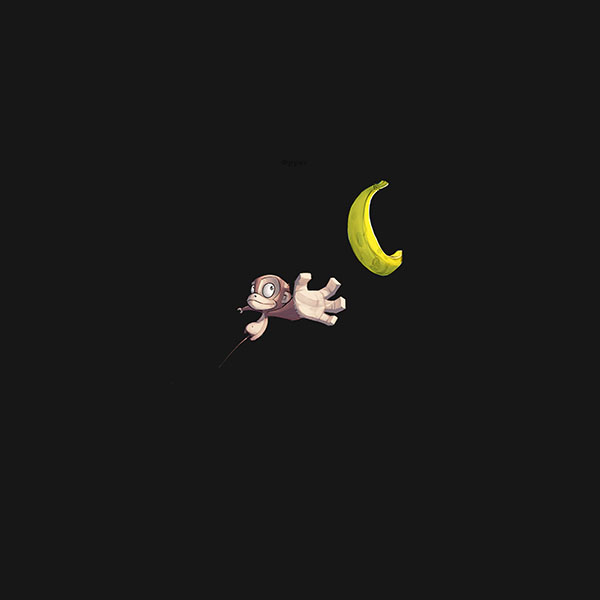 iPapers.co-Apple-iPhone-iPad-Macbook-iMac-wallpaper-ai40-monkey-banana-love-dark-illust-art-minimal-wallpaper