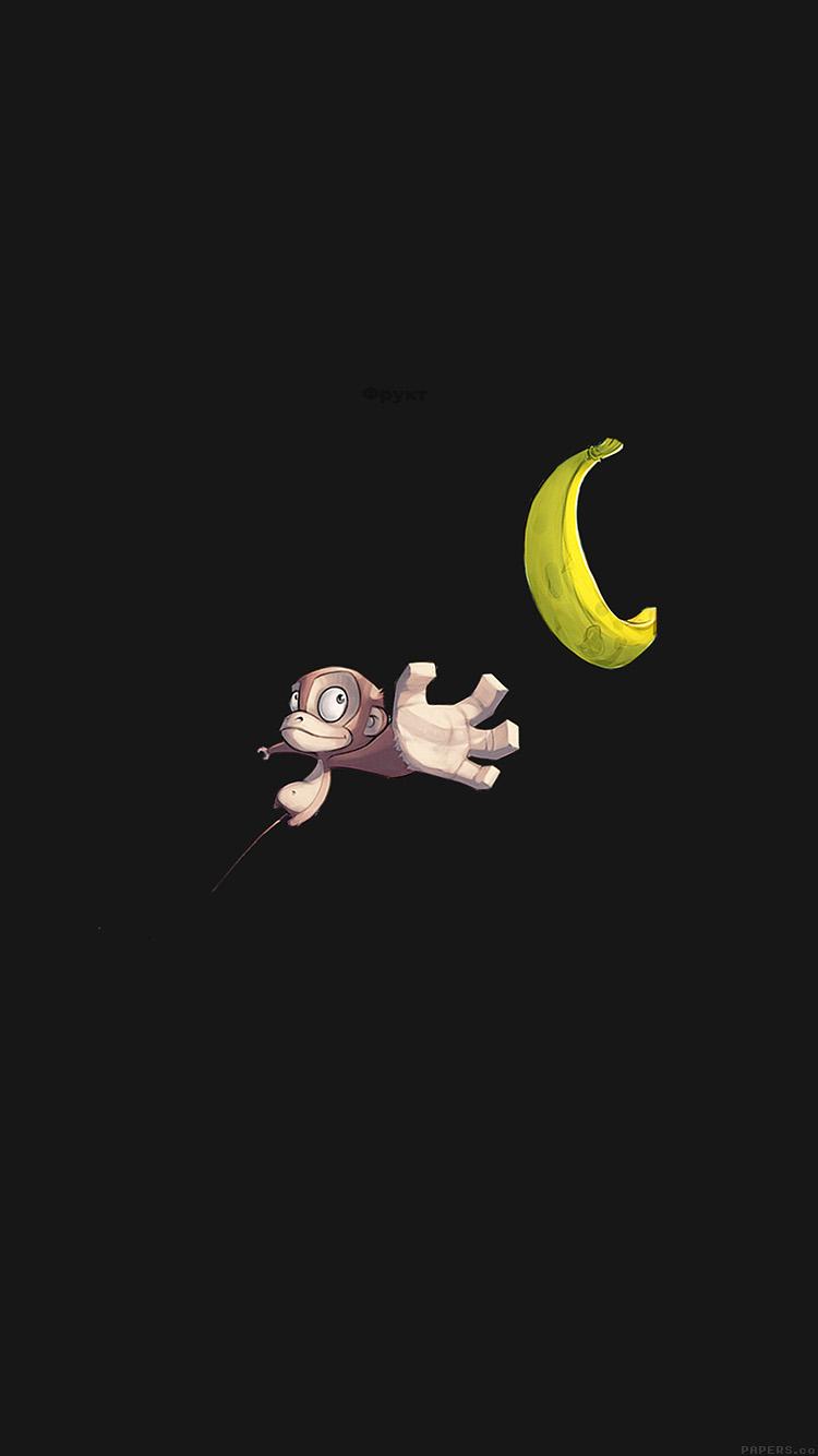 iPhone6papers.co-Apple-iPhone-6-iphone6-plus-wallpaper-ai40-monkey-banana-love-dark-illust-art-minimal
