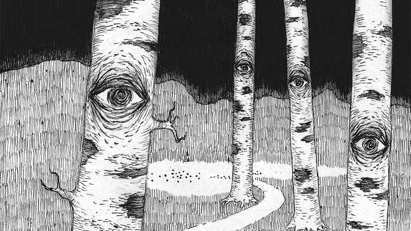 wallpaper-desktop-laptop-mac-macbook-ai46-eye-in-woods-pencil-drawing-art-illust-wallpaper