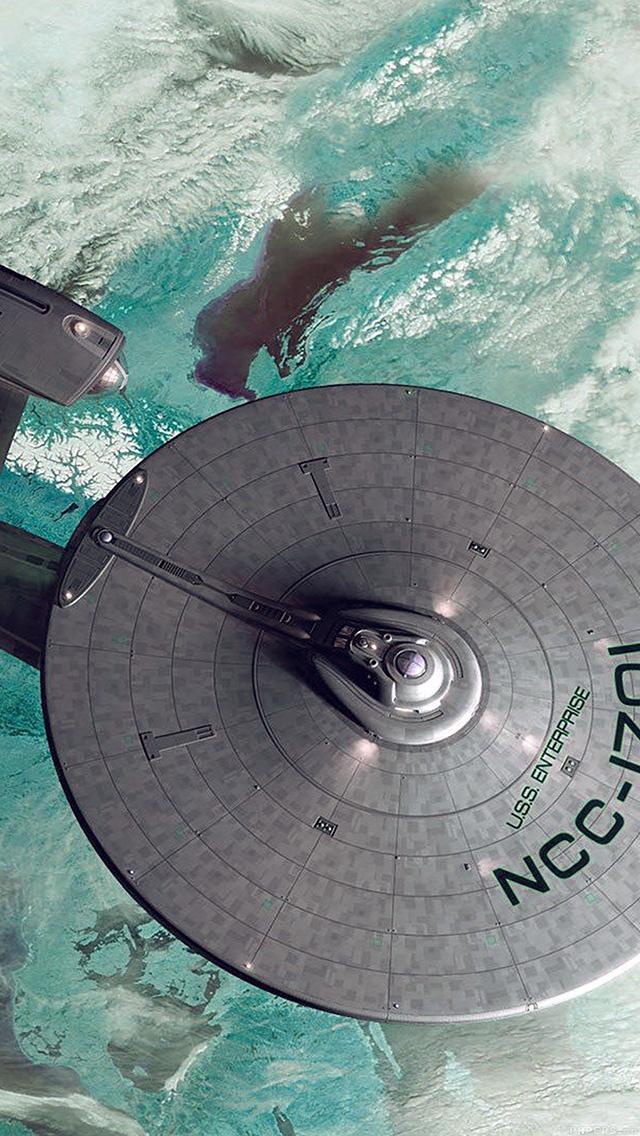 freeios8.com-iphone-4-5-6-plus-ipad-ios8-ai48-starship-enterprise-blue-space-art-illust