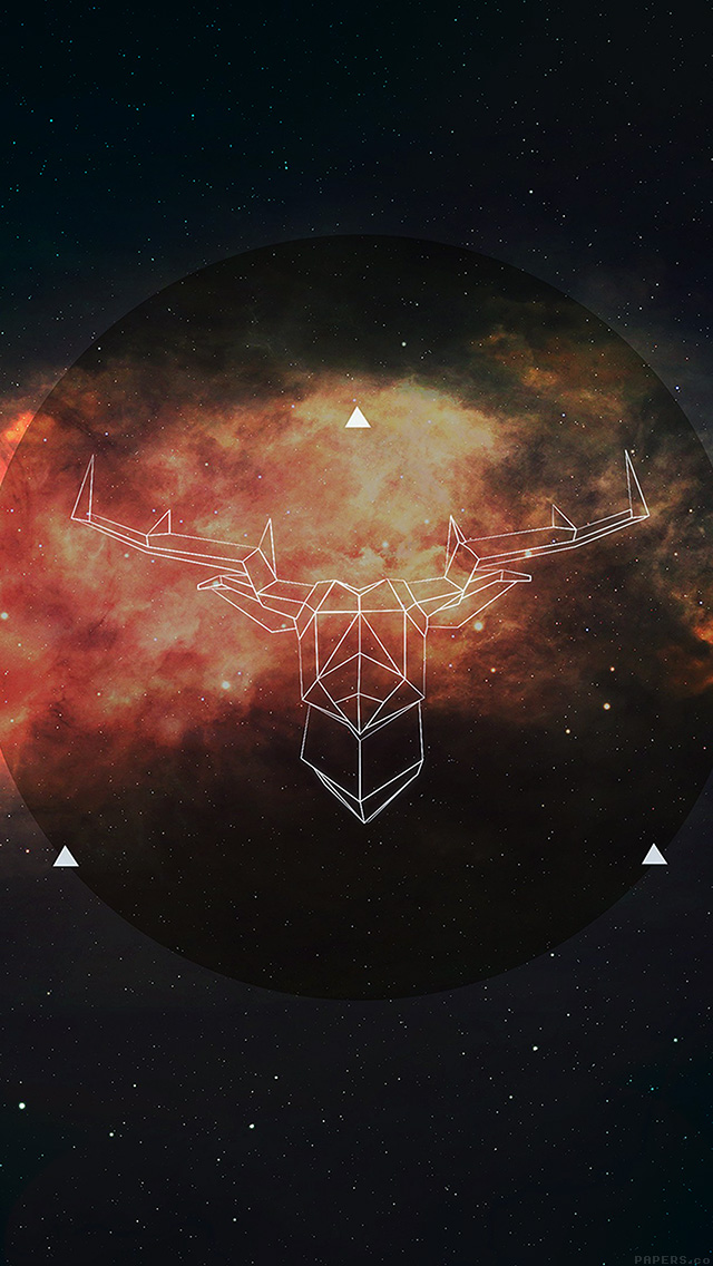 freeios8.com-iphone-4-5-6-plus-ipad-ios8-ai69-art-illust-deer-space-dark