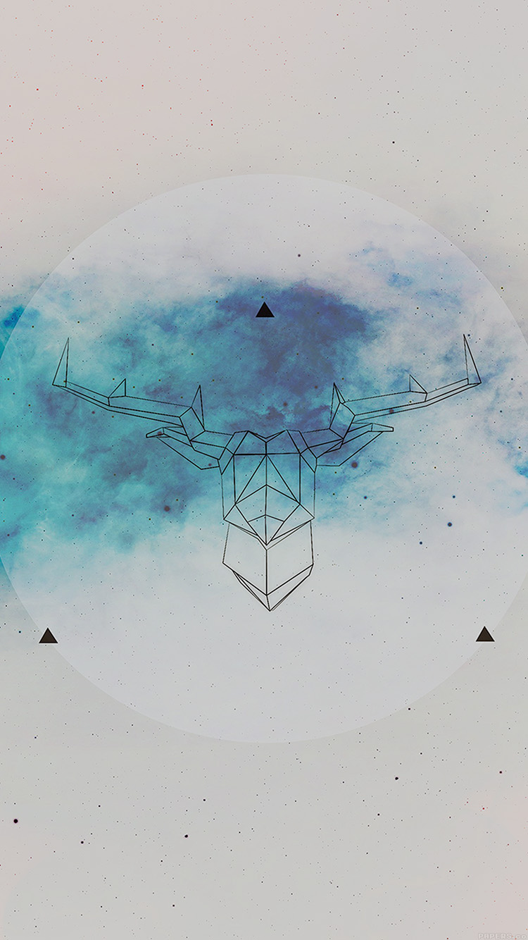 Ai70 Art Illust Deer Space Cool Papers Co