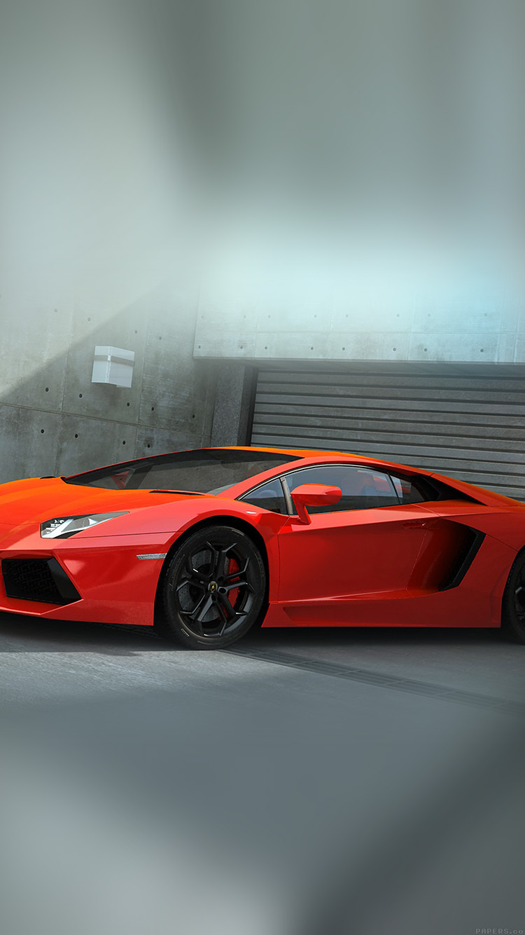 iPhone6papers.co-Apple-iPhone-6-iphone6-plus-wallpaper-ai89-red-lamborghini-parked-car-art
