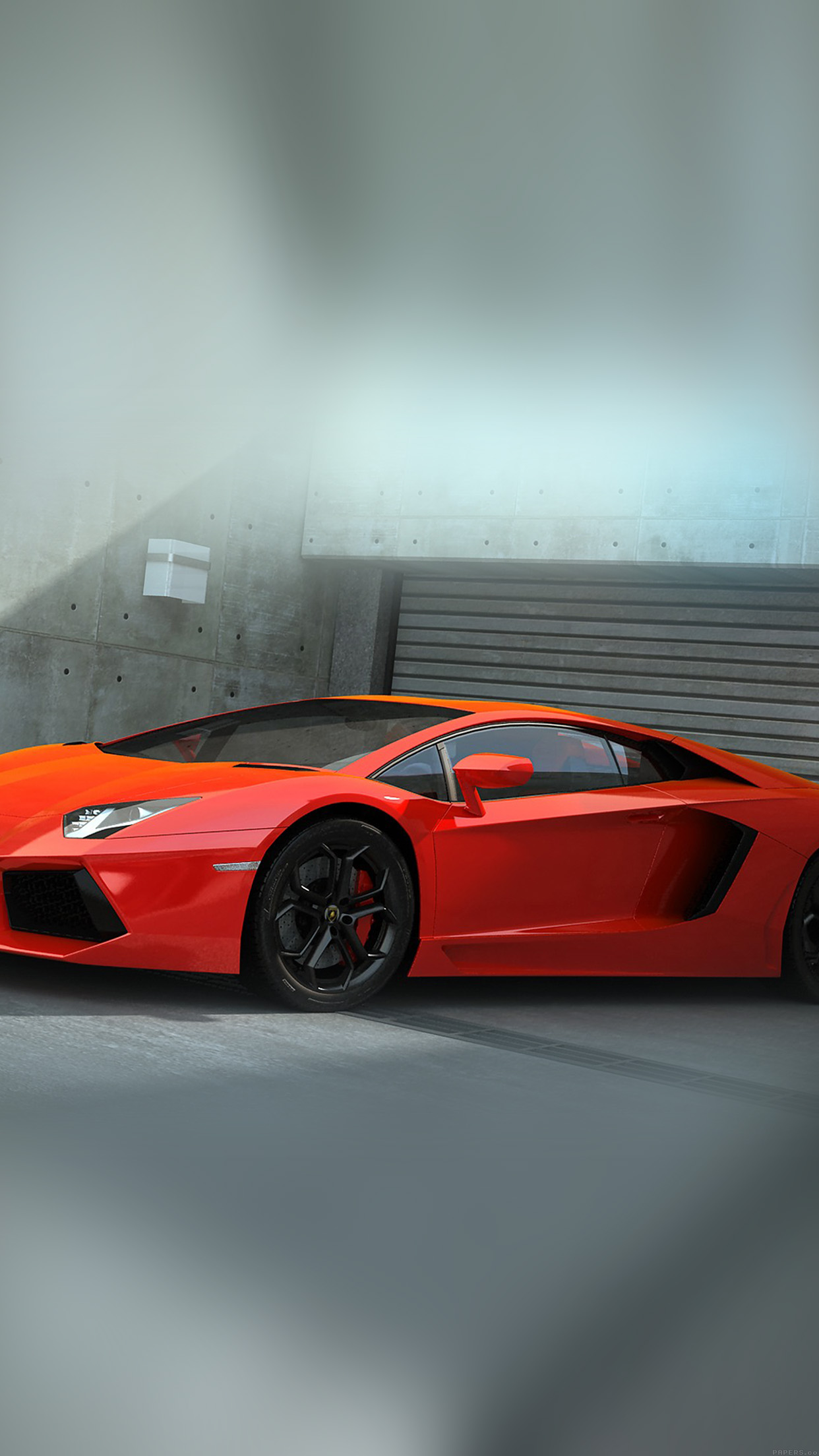 Iphone6papers Ai89 Red Lamborghini Parked Car Art
