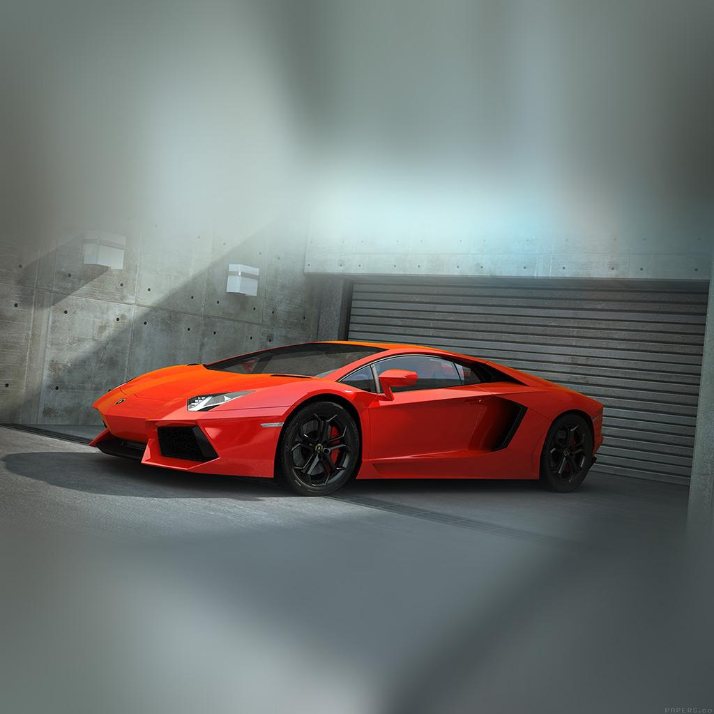 android-wallpaper-ai89-red-lamborghini-parked-car-art-wallpaper