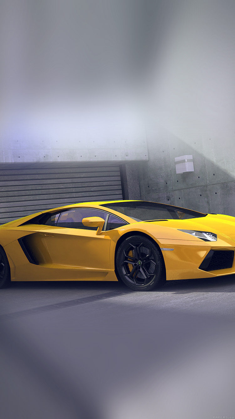 iPhonepapers.com-Apple-iPhone8-wallpaper-ai90-yellow-lamborghini-parked-car-art