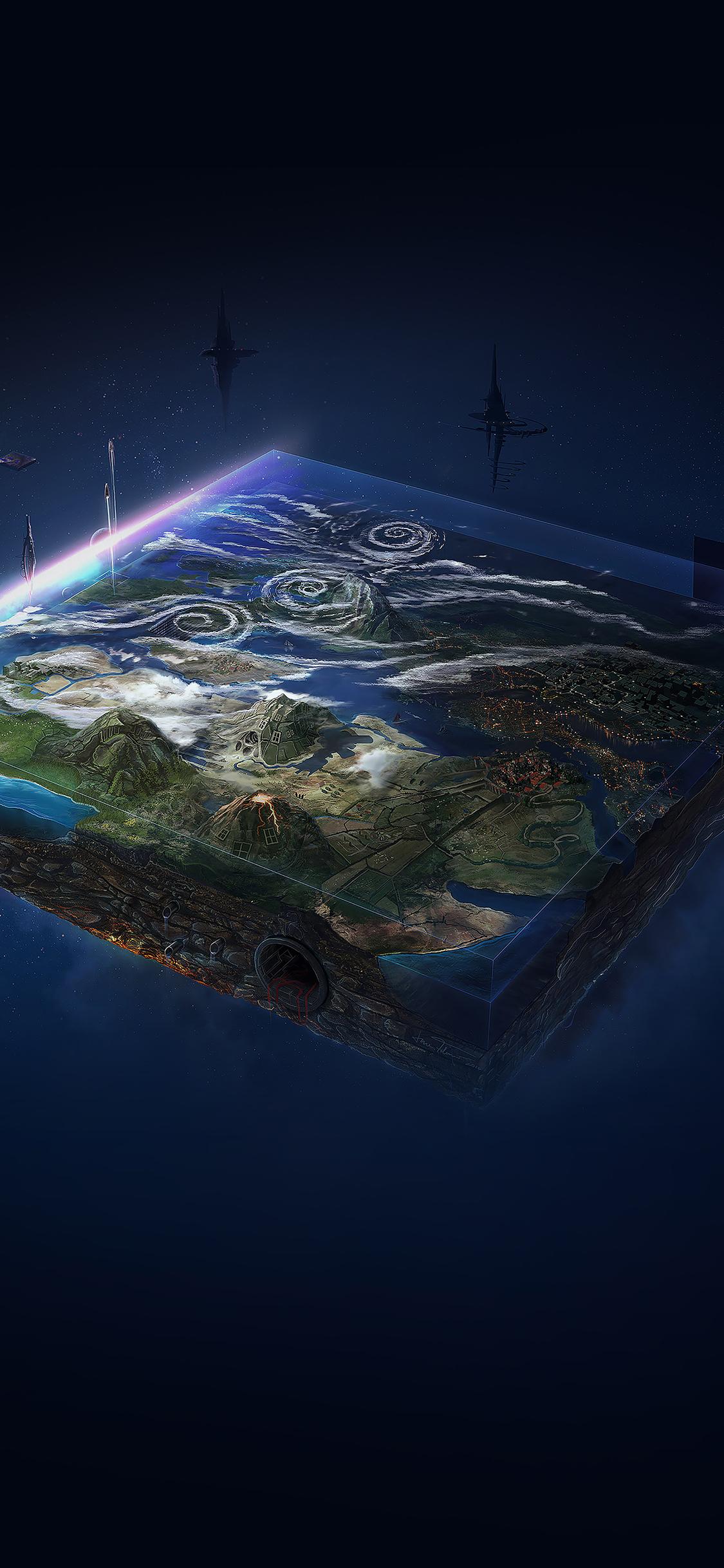 Iphonexpapers Ai94 Flat Earth Art Illust Space