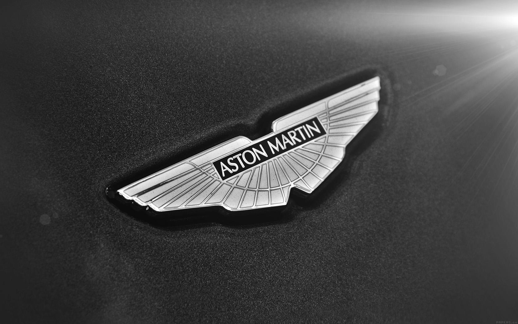 Wallpaper For Desktop Laptop Aj02 Aston Martin Logo Car Bw Dark