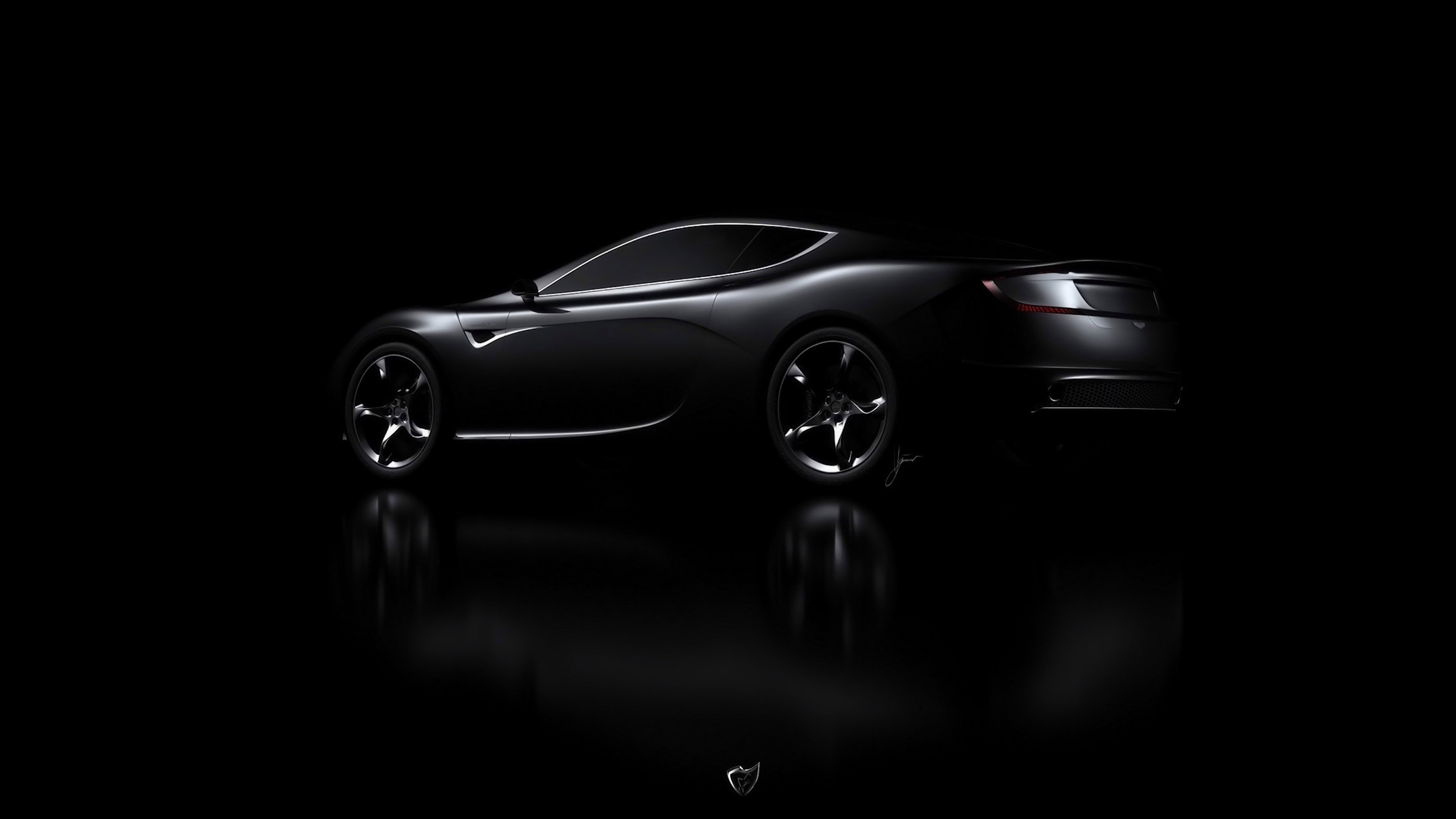 Aj06 Aston Martin Black Car Dark Wallpaper