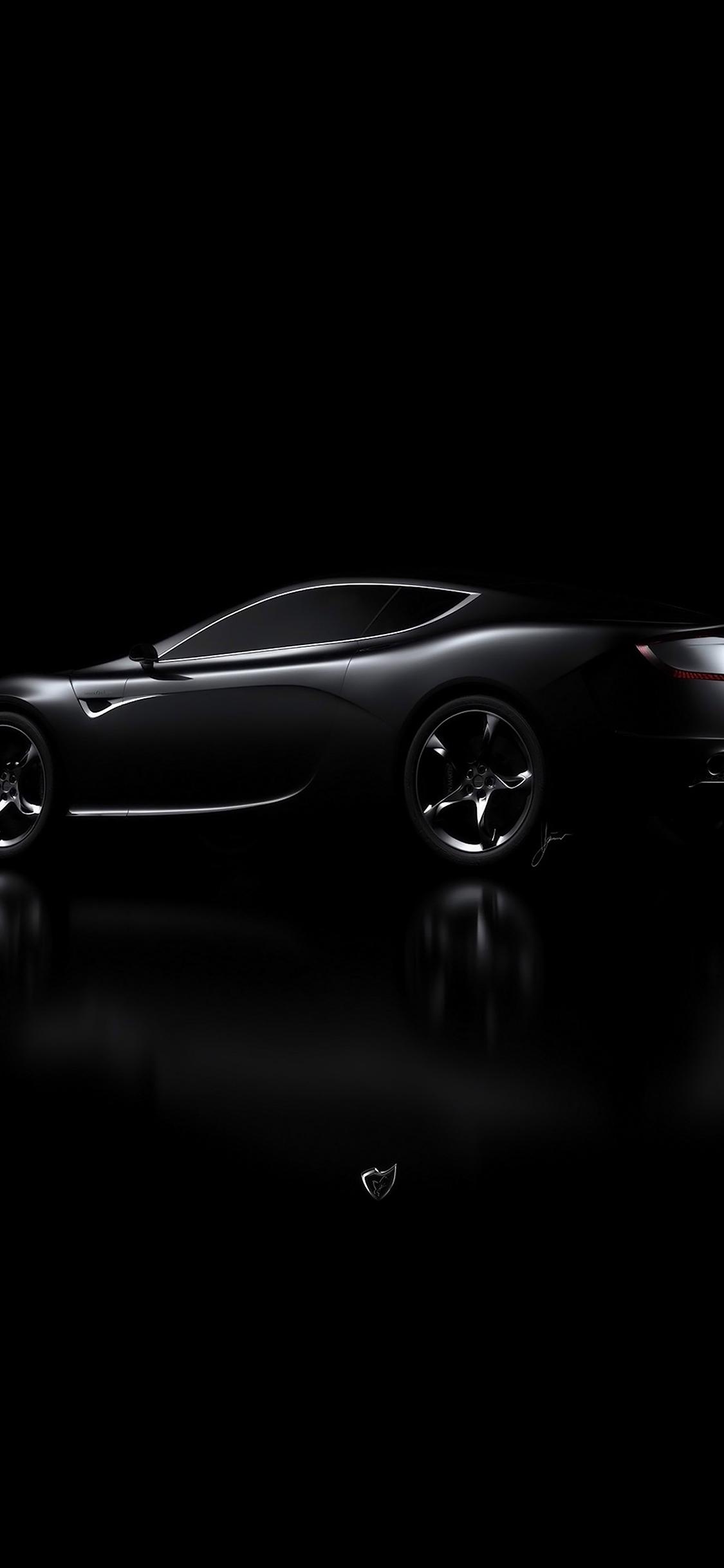 Aj06 Aston Martin Black Car Dark Wallpaper