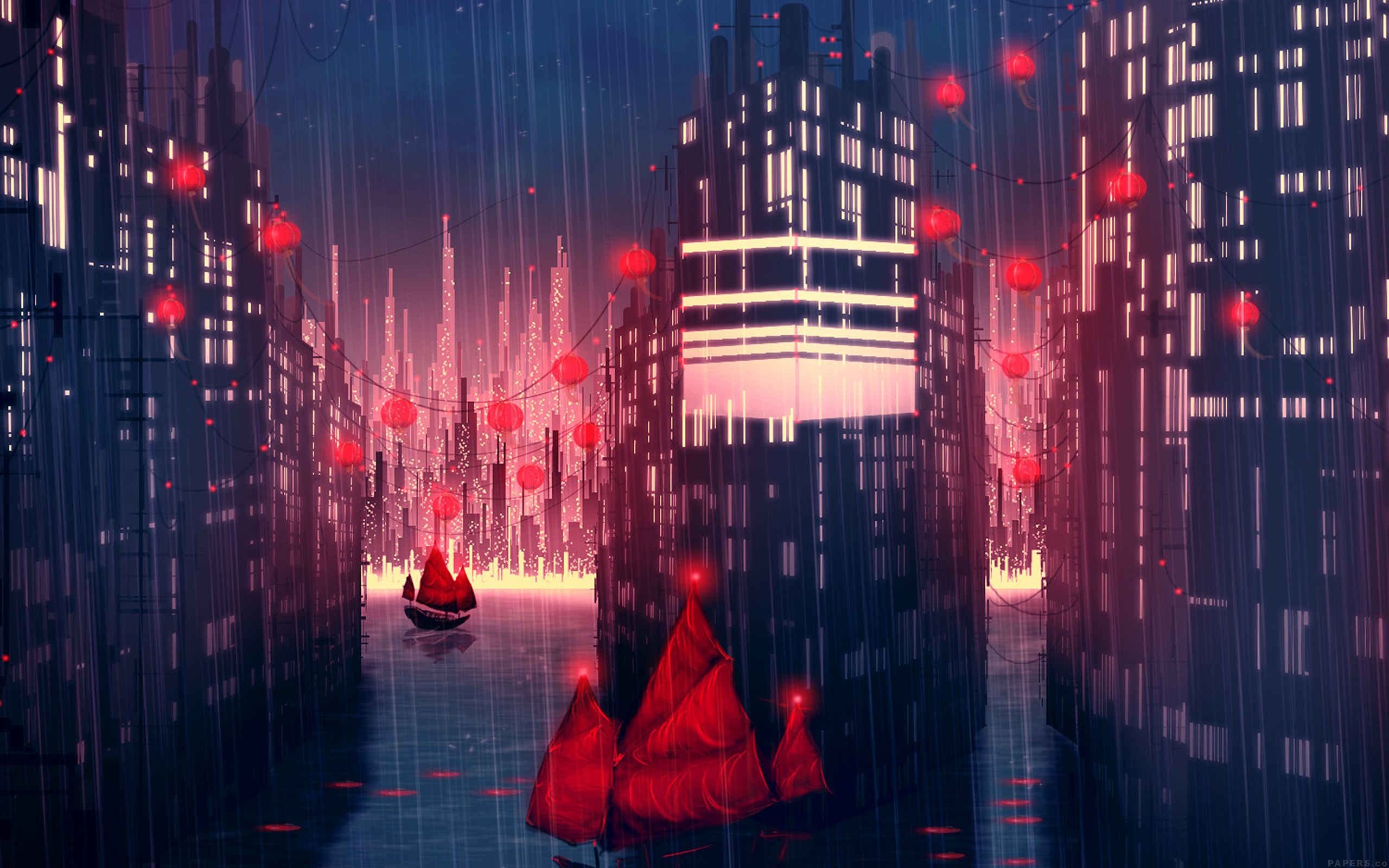 3840 x 2160 - Anime rain wallpaper ...