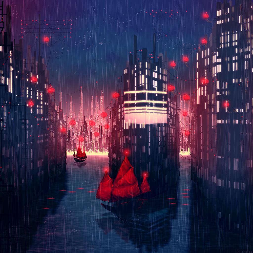 android-wallpaper-aj08-rainy-anime-city-art-illust-wallpaper