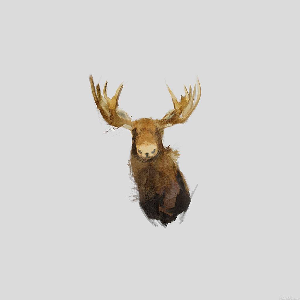 android-wallpaper-aj15-moose-illust-minimal-art-by-garillu-wallpaper