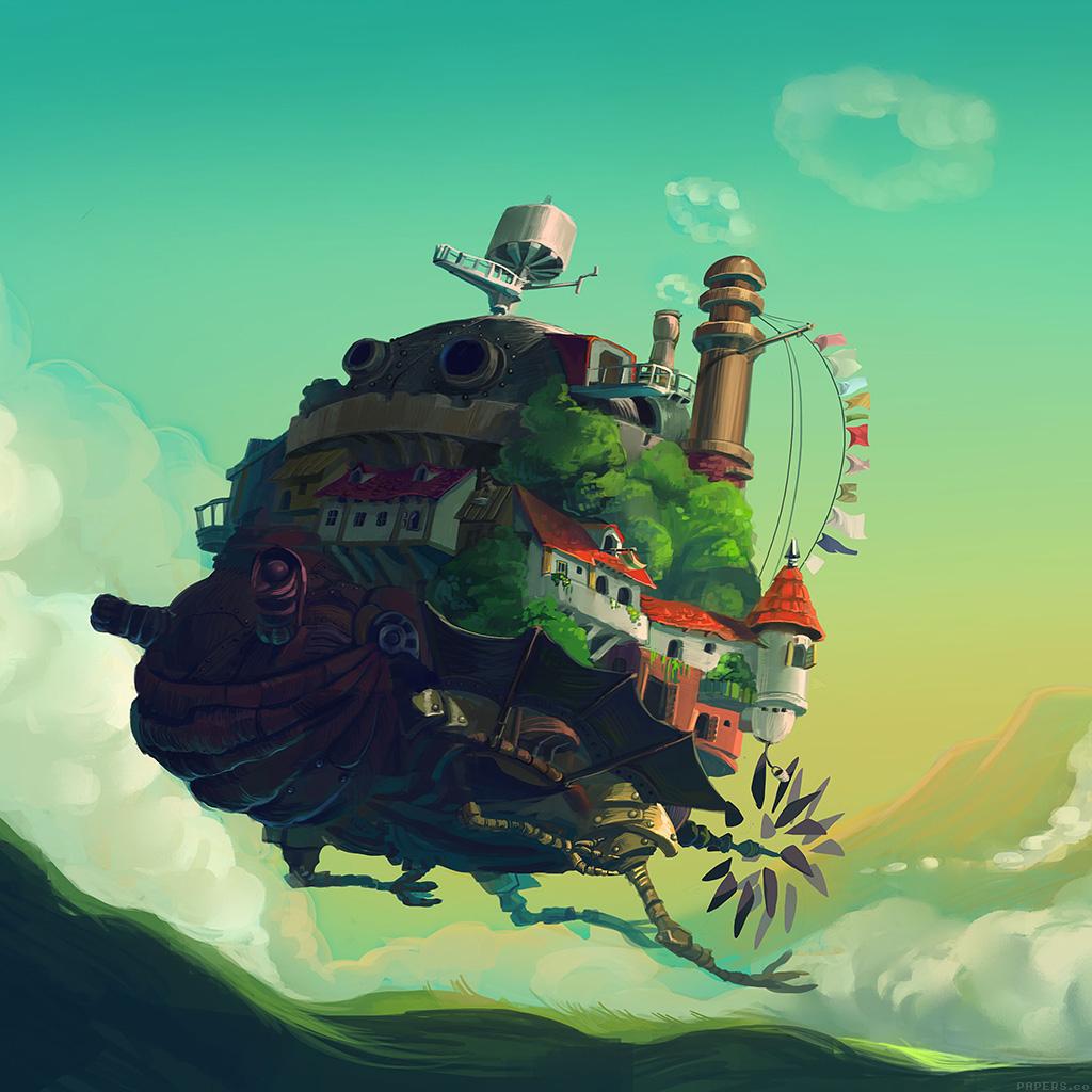 android-wallpaper-aj18-howl-moving-castle-anime-art-illust-wallpaper