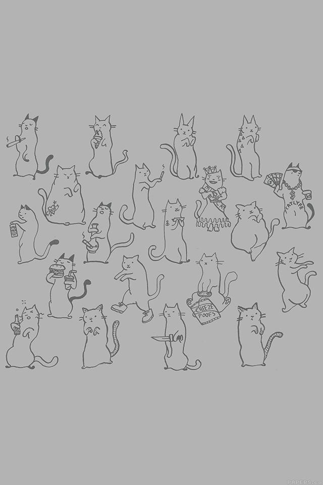 freeios7.com-iphone-4-iphone-5-ios7-wallpaperaj25-cats-cute-illustration-art-simple-minimal-iphone4