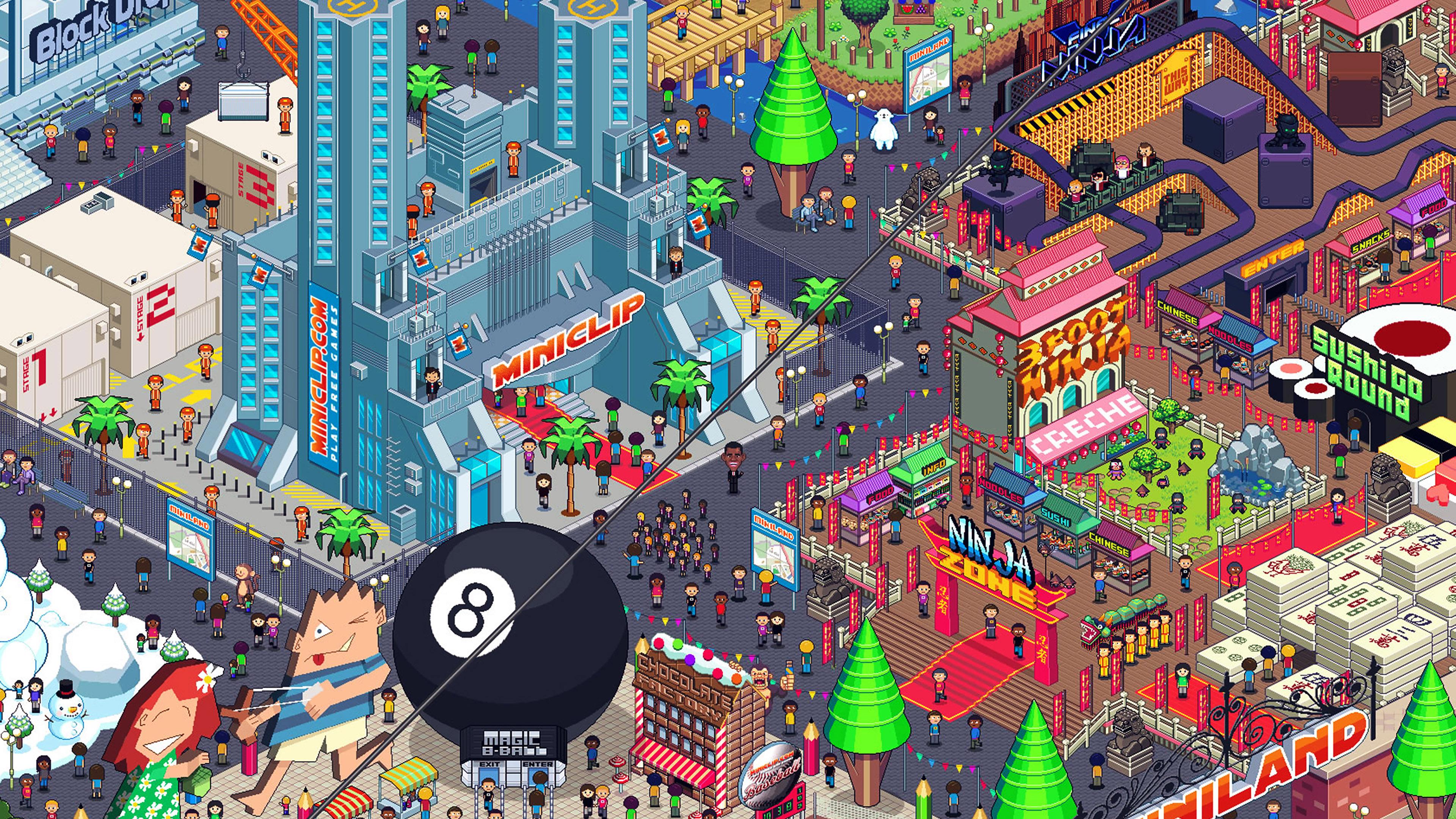 Aj26 Pixel Art City By Army Of Trolls Wallpaper
