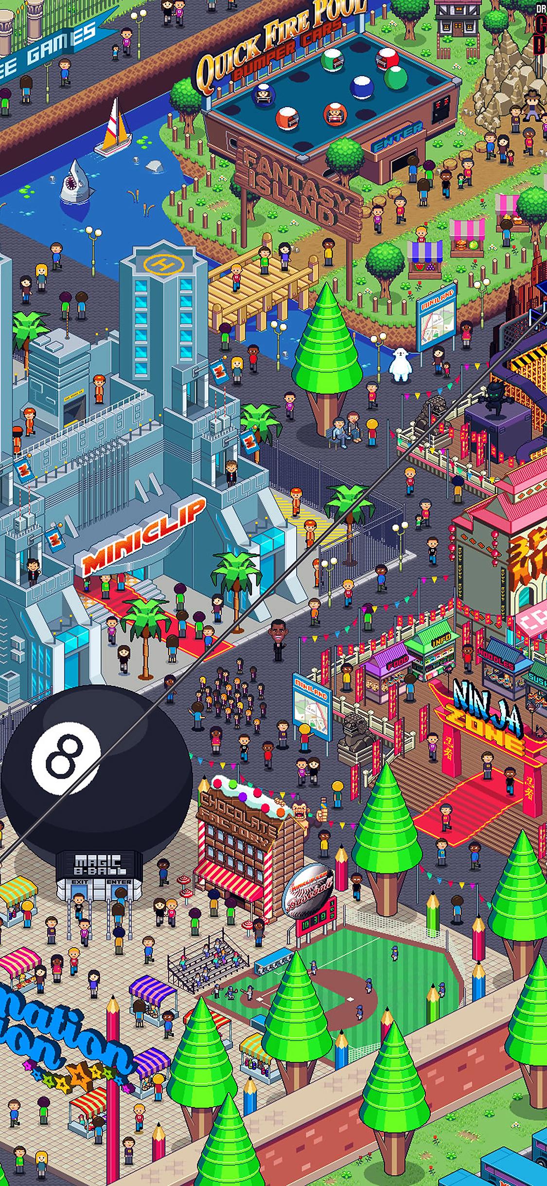 Iphonexpapers Com Iphone X Wallpaper Aj26 Pixel Art City By Army Of Trolls