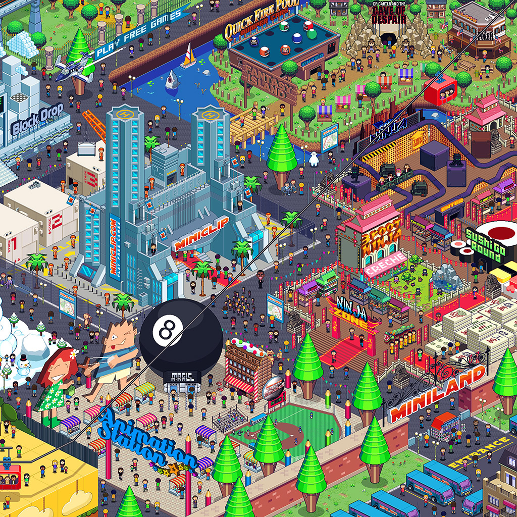 Papers Co Android Wallpaper Aj26 Pixel Art City By Army Of Trolls