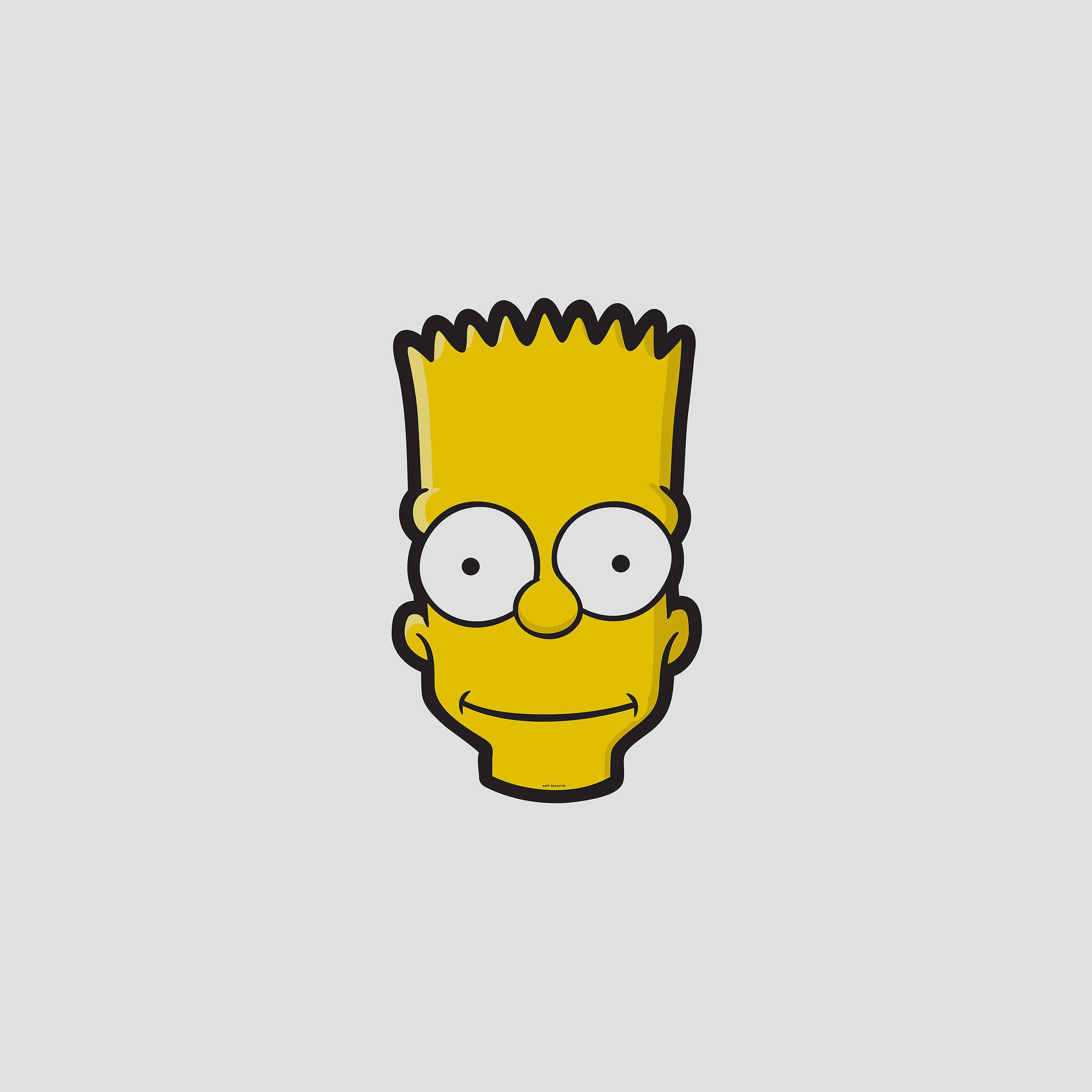 https androidpapers co aj28 bart face art illust simpsons minimal simple