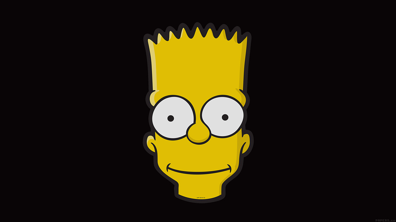 desktop-wallpaper-laptop-mac-macbook-airaj29-bart-face-art-illust-dark-simpsons-minimal-simple-wallpaper