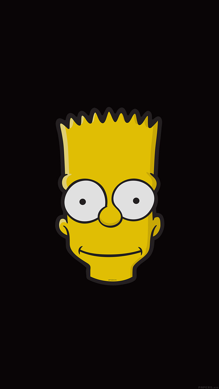 iPhone6papers.co-Apple-iPhone-6-iphone6-plus-wallpaper-aj29-bart-face-art-illust-dark-simpsons-minimal-simple
