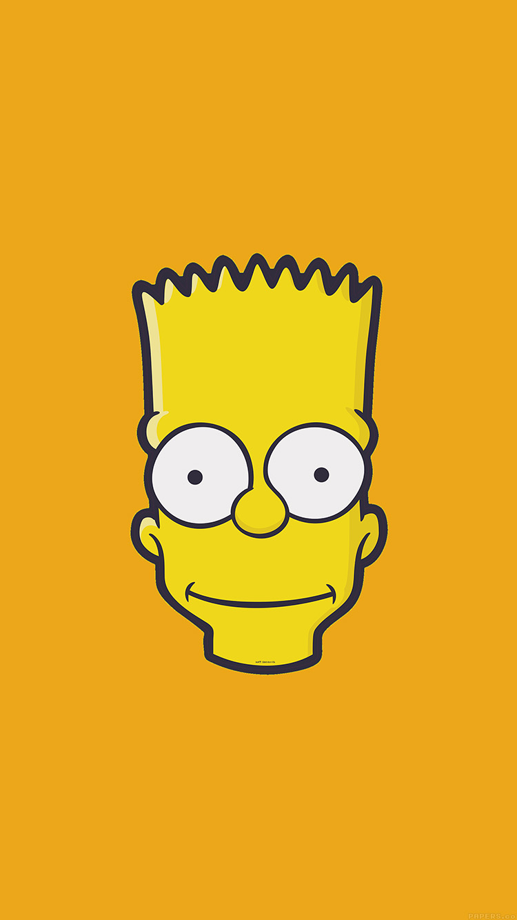 iPhone7papers.com-Apple-iPhone7-iphone7plus-wallpaper-aj30-bart-face-art-illust-yellow-simpsons-minimal-simple