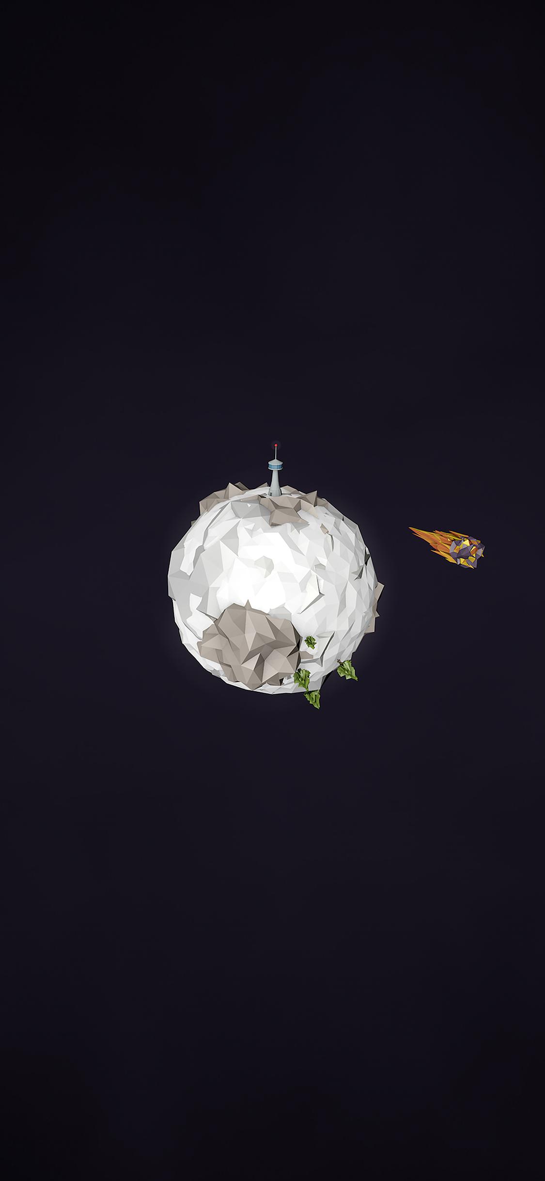 aj32-polygon-planet-cute-minimal-simple-art-dark - Papers.co
