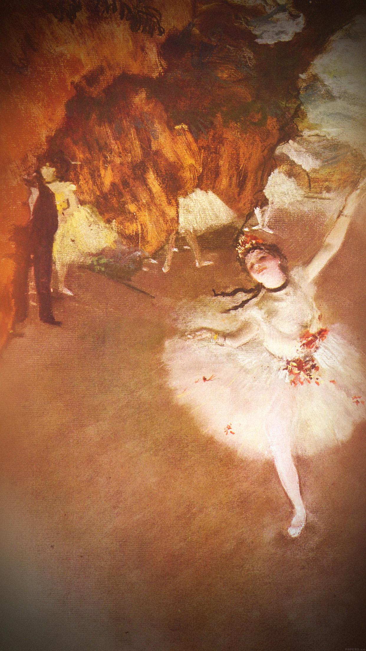 Aj36 Edgar Degas Ballerina Classic Painting Art Illust