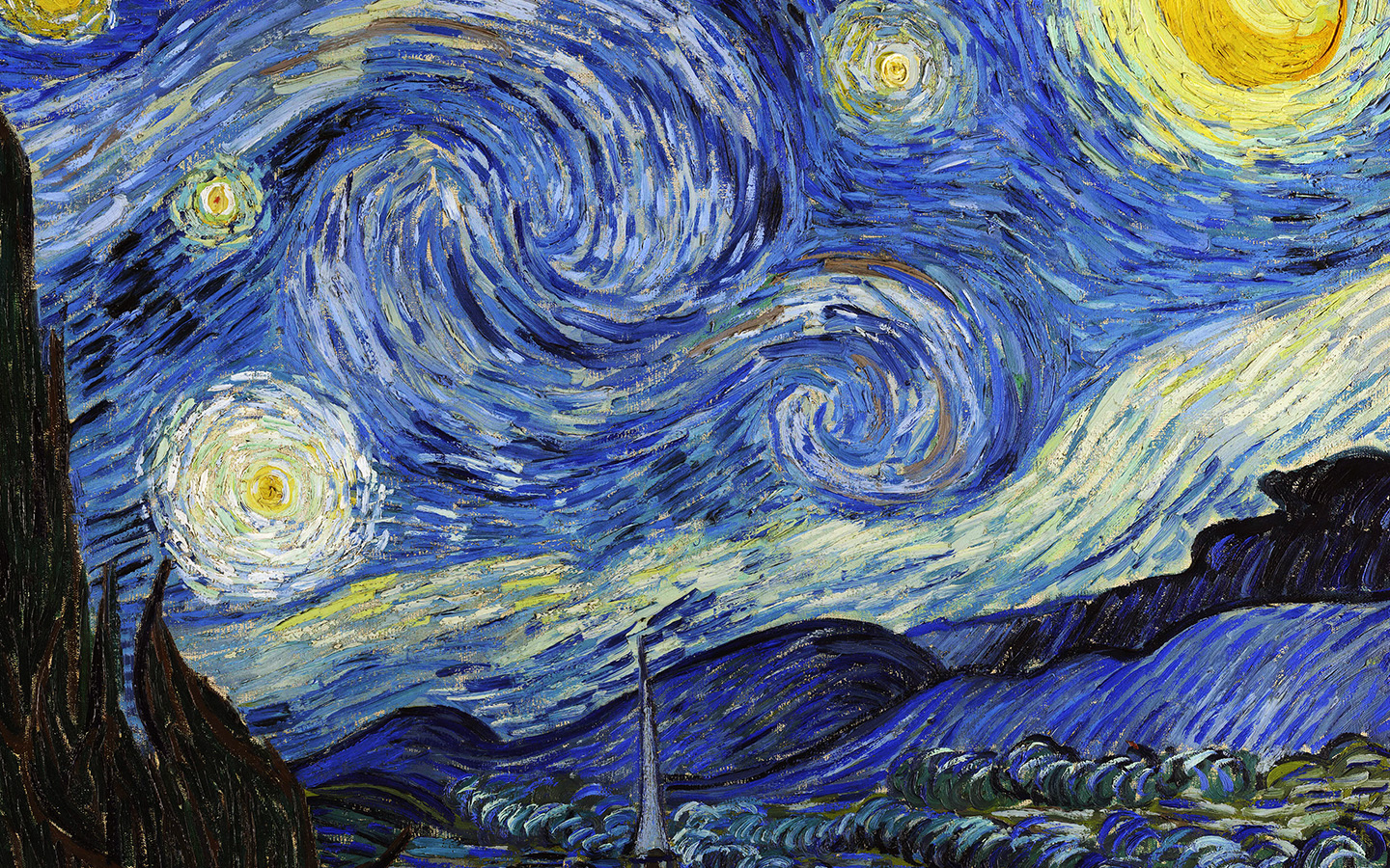 Aj42 vincent van gogh starry night classic painting art - Classic art wallpaper iphone 5 ...