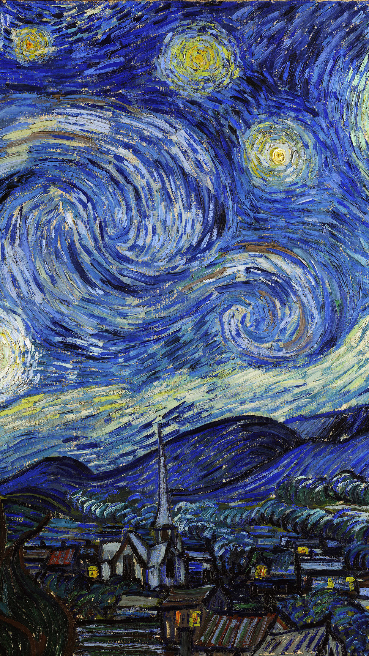 starry night iphone wallpaper aj42 vincent gogh starry classic painting 5320