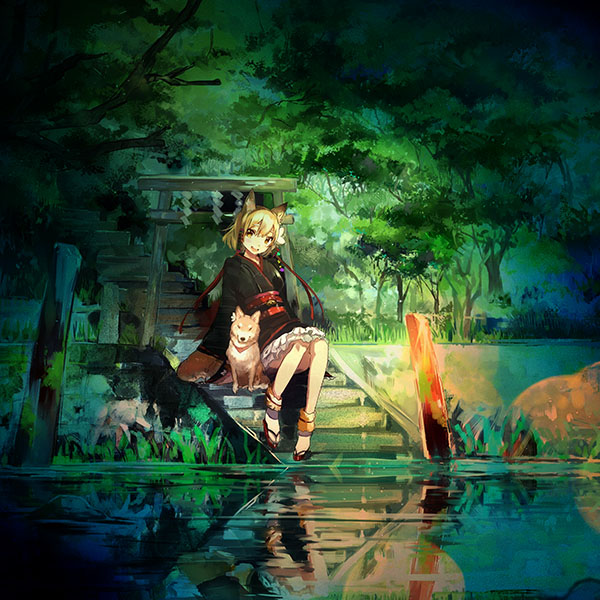 iPapers.co-Apple-iPhone-iPad-Macbook-iMac-wallpaper-aj47-girl-and-dog-green-nature-anime-art-illust-wallpaper