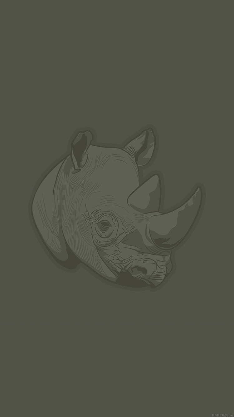 iPhone6papers.co-Apple-iPhone-6-iphone6-plus-wallpaper-aj51-thoughtful-rhino-minimal-illust-art