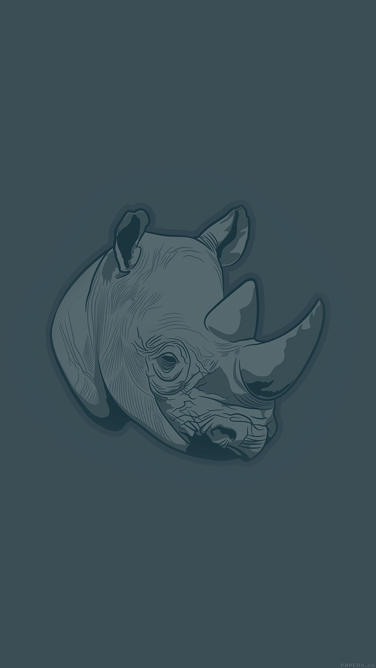 iPhonepapers.com-Apple-iPhone8-wallpaper-aj52-thoughtful-rhino-blue-minimal-illust-art
