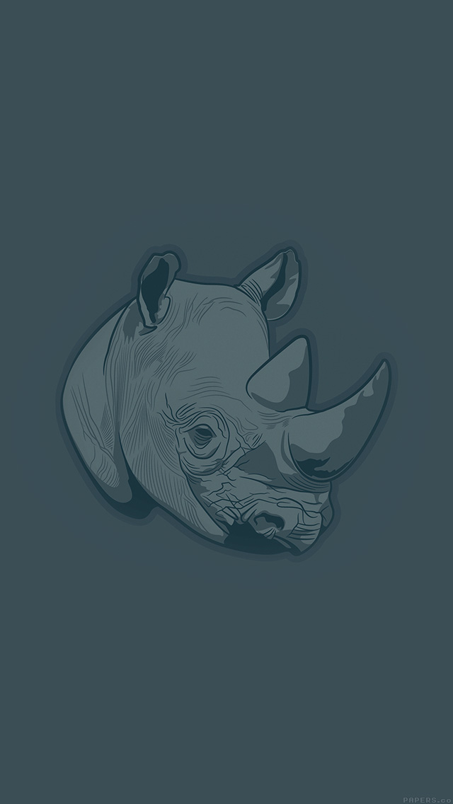 freeios8.com-iphone-4-5-6-plus-ipad-ios8-aj52-thoughtful-rhino-blue-minimal-illust-art