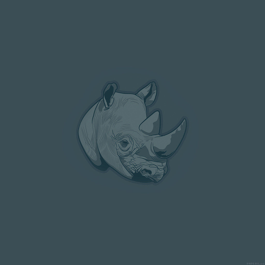android-wallpaper-aj52-thoughtful-rhino-blue-minimal-illust-art-wallpaper