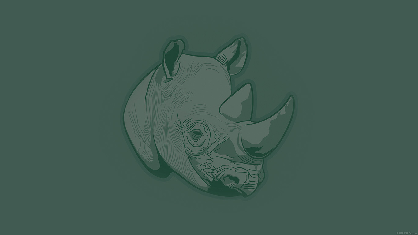 desktop-wallpaper-laptop-mac-macbook-air-aj53-thoughtful-rhino-green-minimal-illust-art-wallpaper