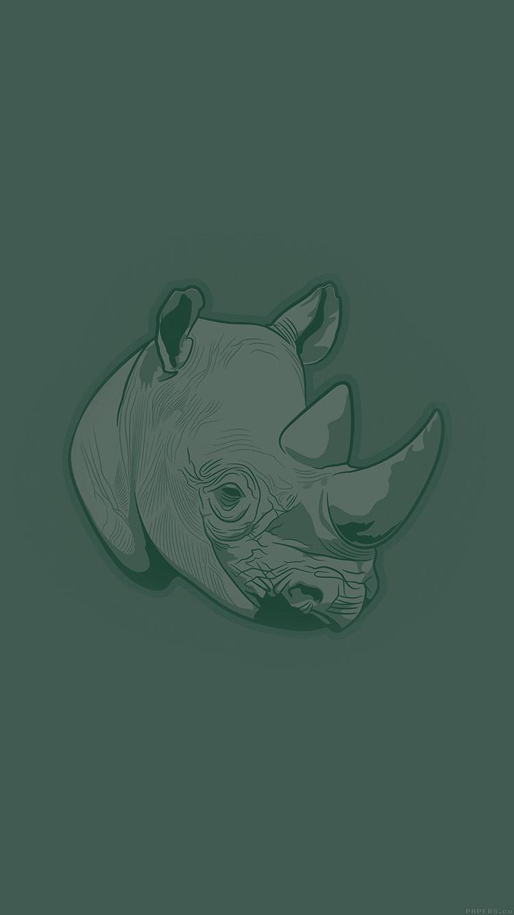 iPhone6papers.co-Apple-iPhone-6-iphone6-plus-wallpaper-aj53-thoughtful-rhino-green-minimal-illust-art