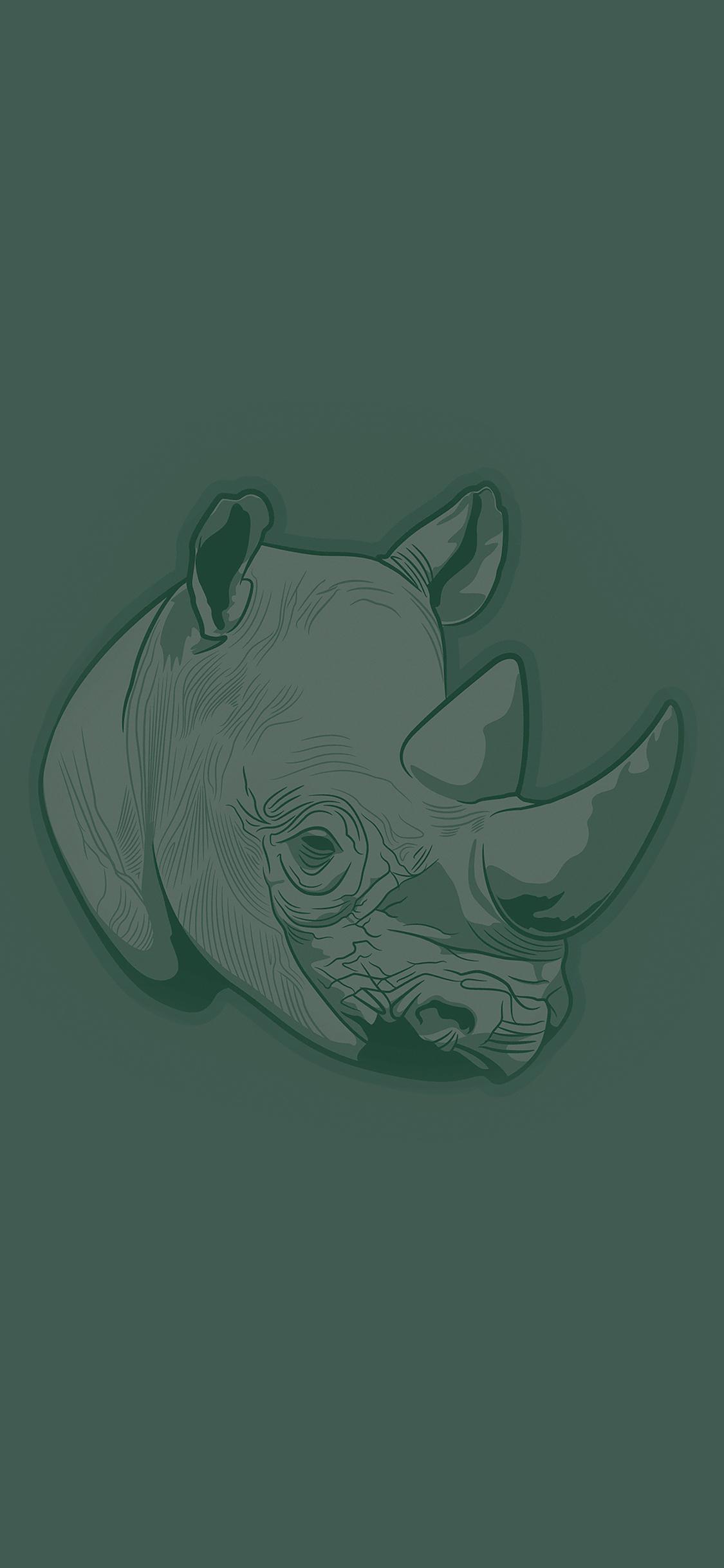 iPhoneXpapers.com-Apple-iPhone-wallpaper-aj53-thoughtful-rhino-green-minimal-illust-art