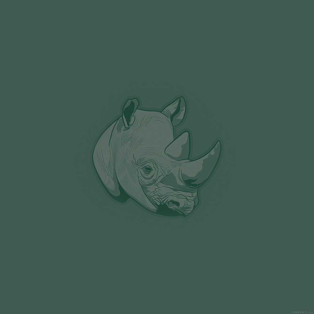 wallpaper-aj53-thoughtful-rhino-green-minimal-illust-art-wallpaper