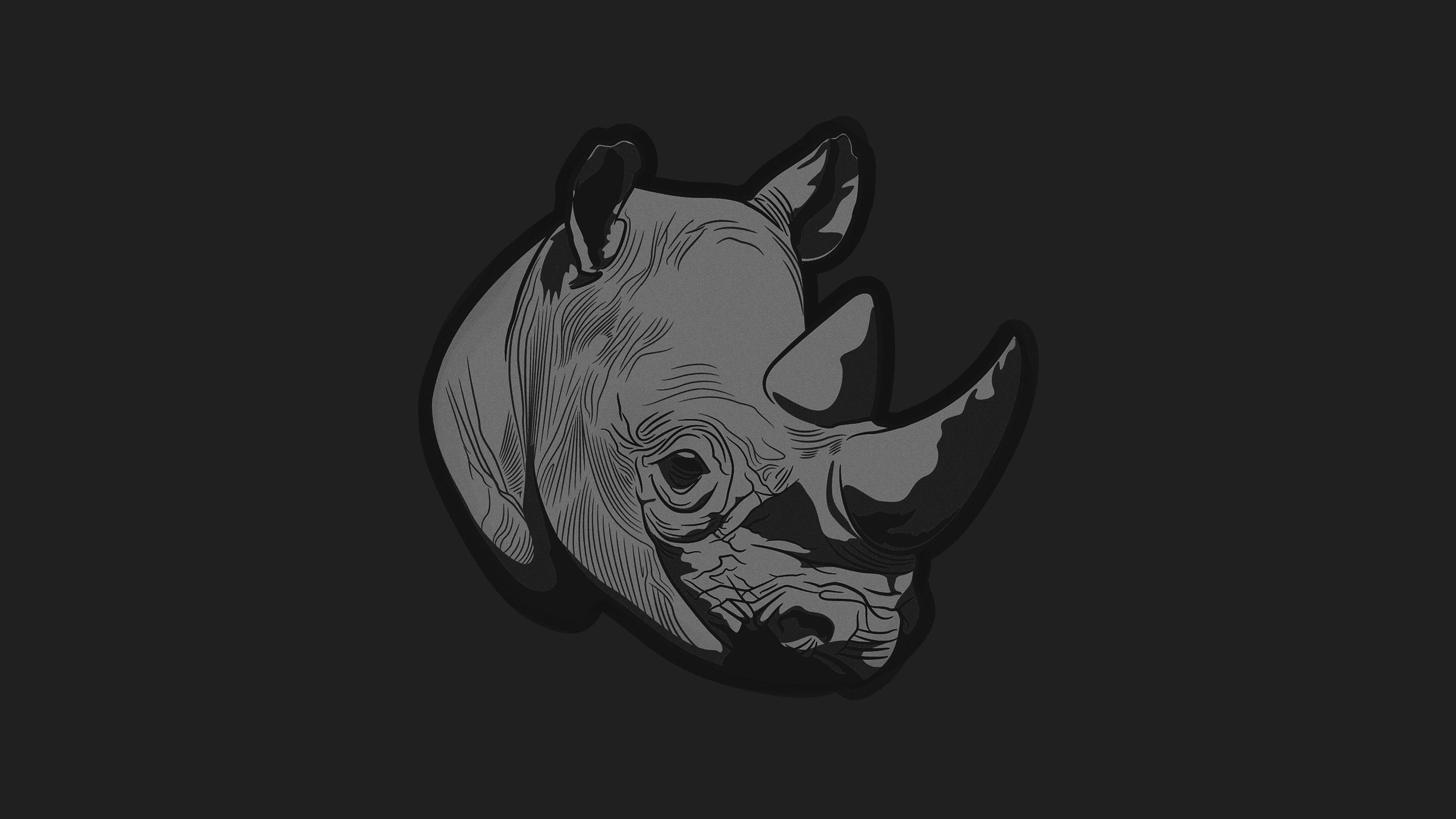 Aj54-thoughtful-rhino-dark-minimal-illust-art