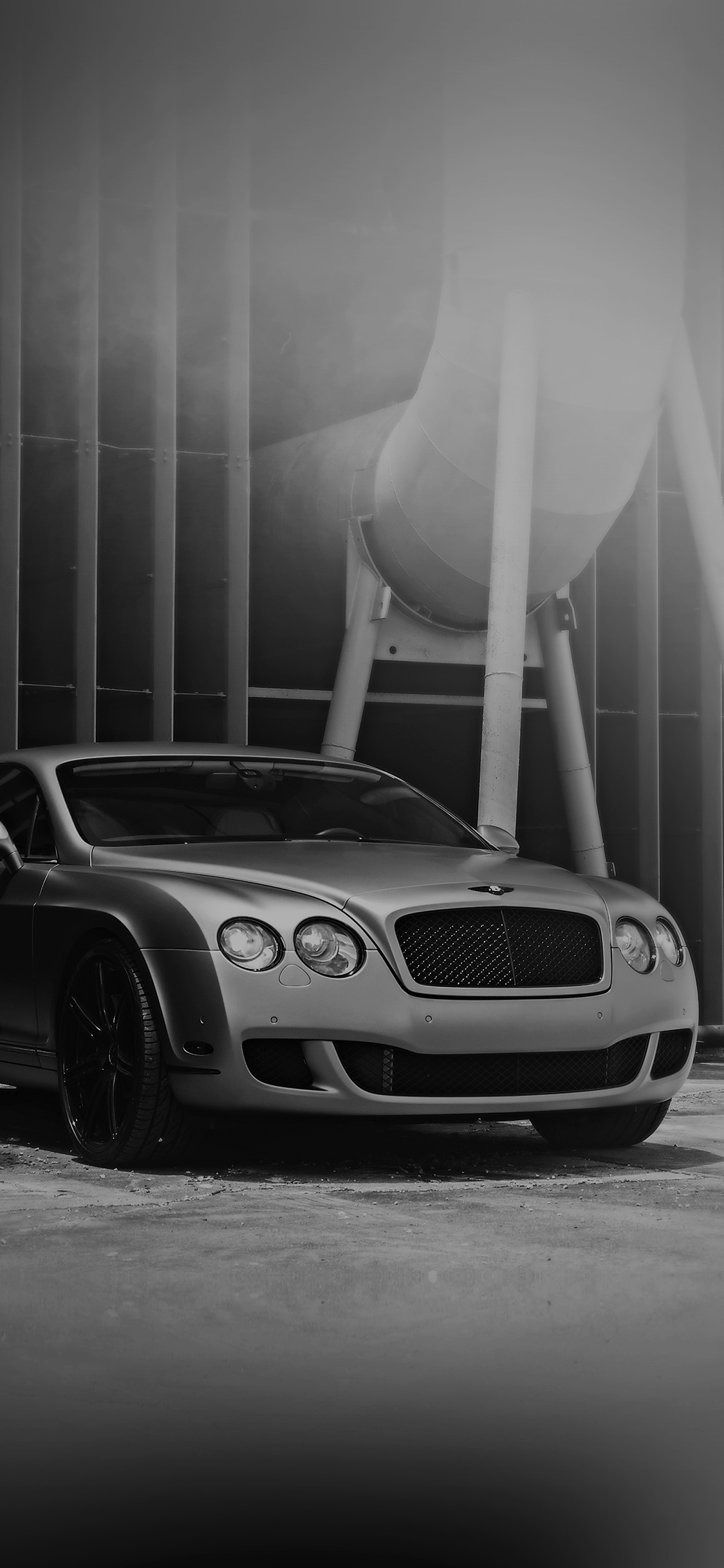 Aj64 Bentley Motors Bw Dark Car Park Art City Wallpaper