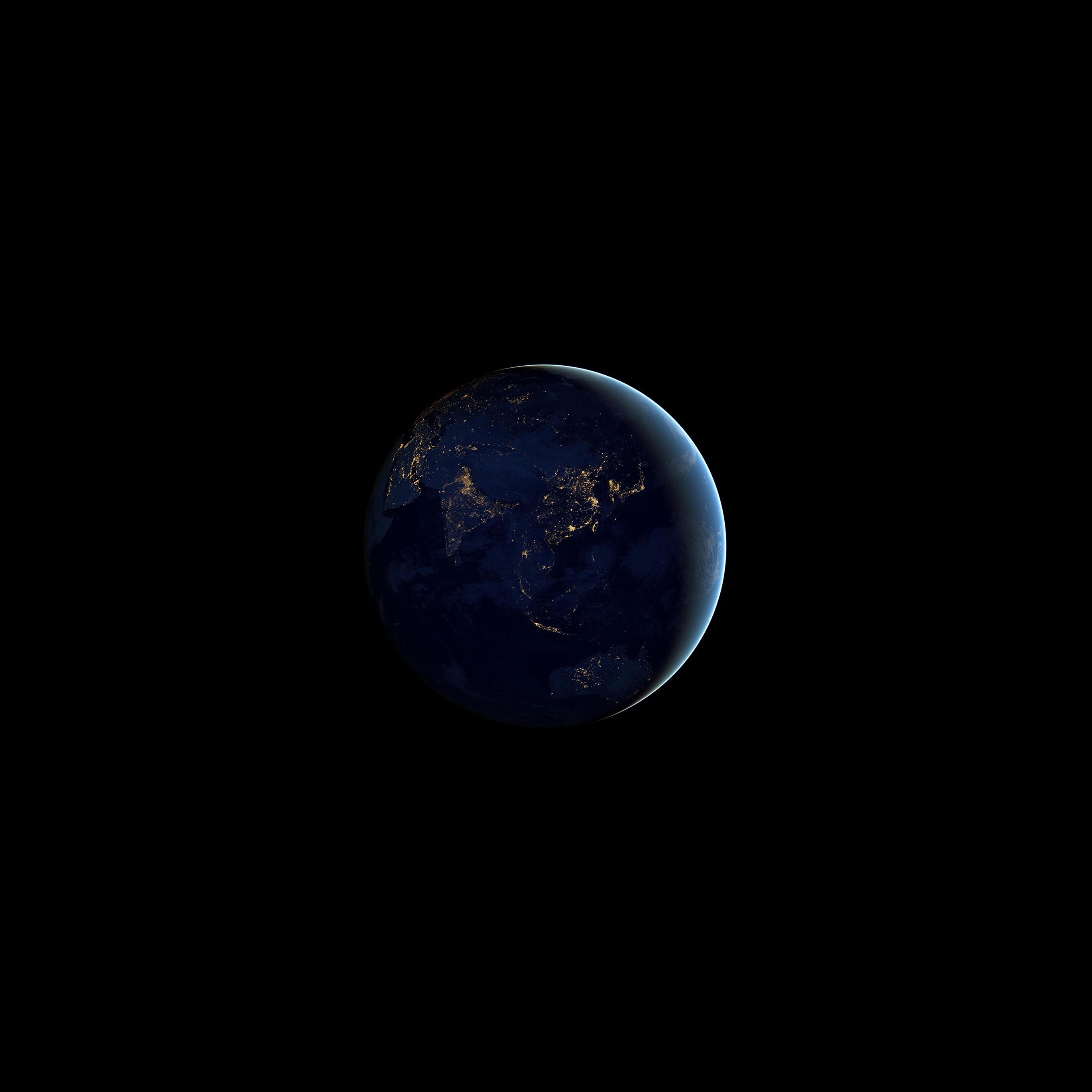 Google Earth Wallpaper: Aj69-asia-at-night-earth-space-dark