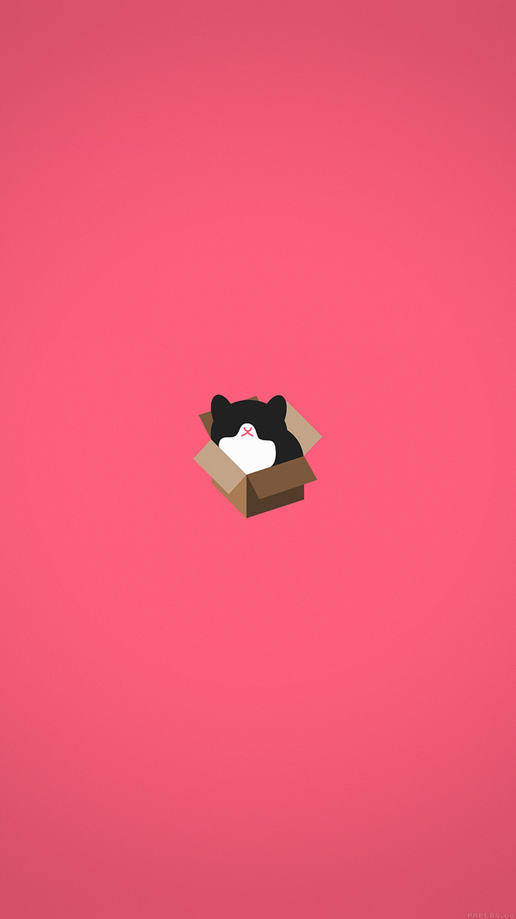 iPhone6papers.co-Apple-iPhone-6-iphone6-plus-wallpaper-aj73-cat-box-red-illust-animal-art-minimal
