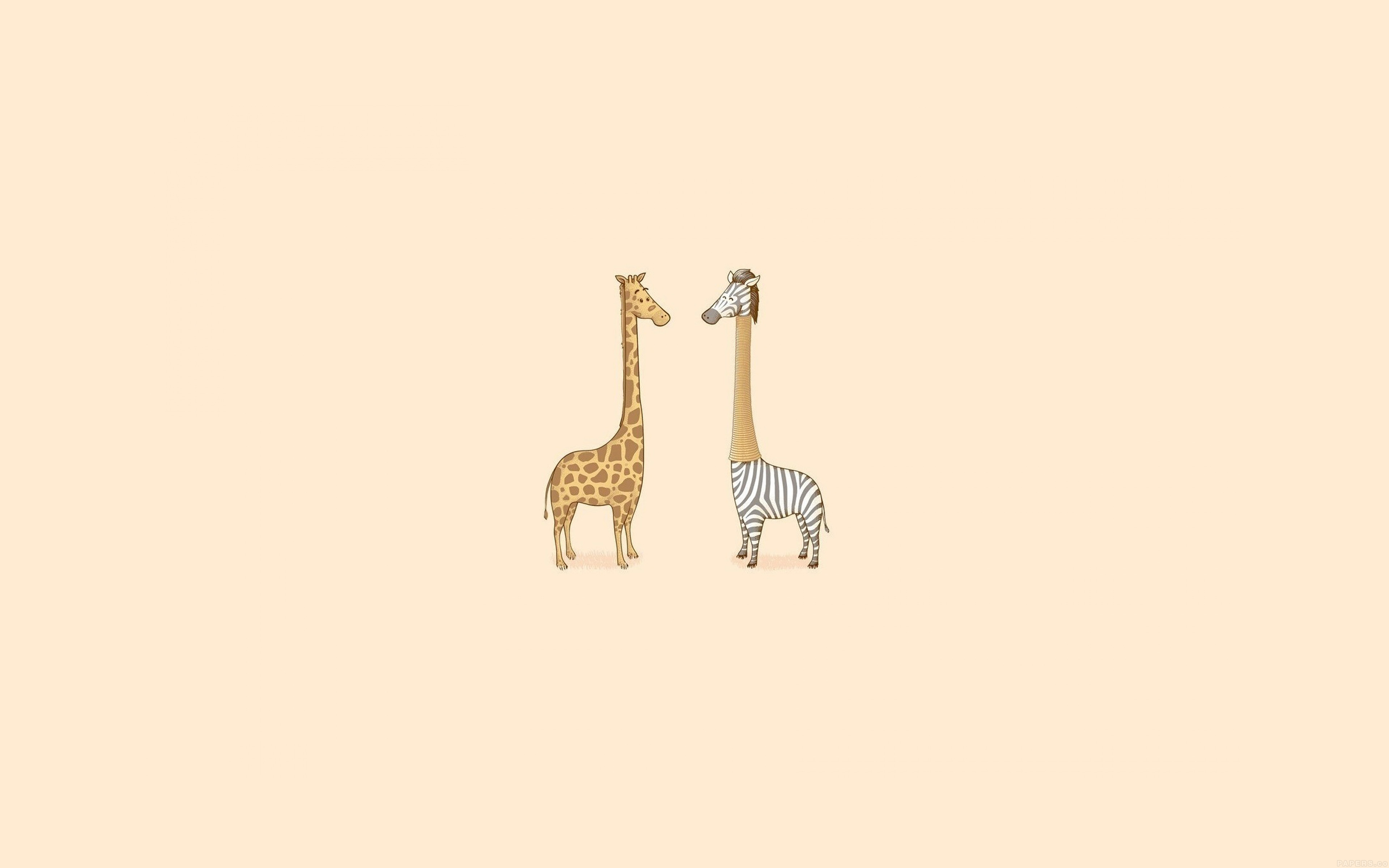 Aj79 Cute Giraffe Yellow Animal Minimal