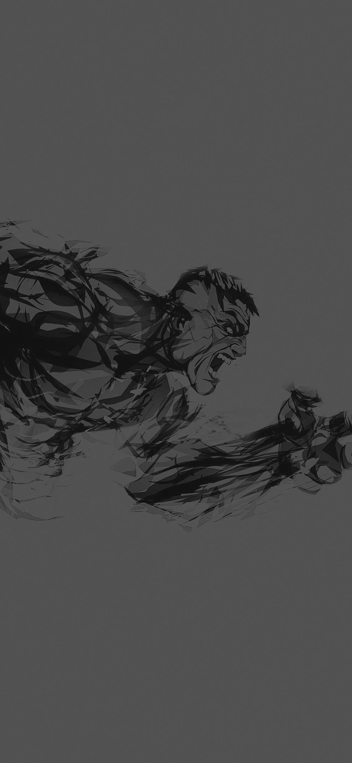 iPhoneXpapers.com-Apple-iPhone-wallpaper-aj82-hulk-illust-anger-dark-minimal-hero-art