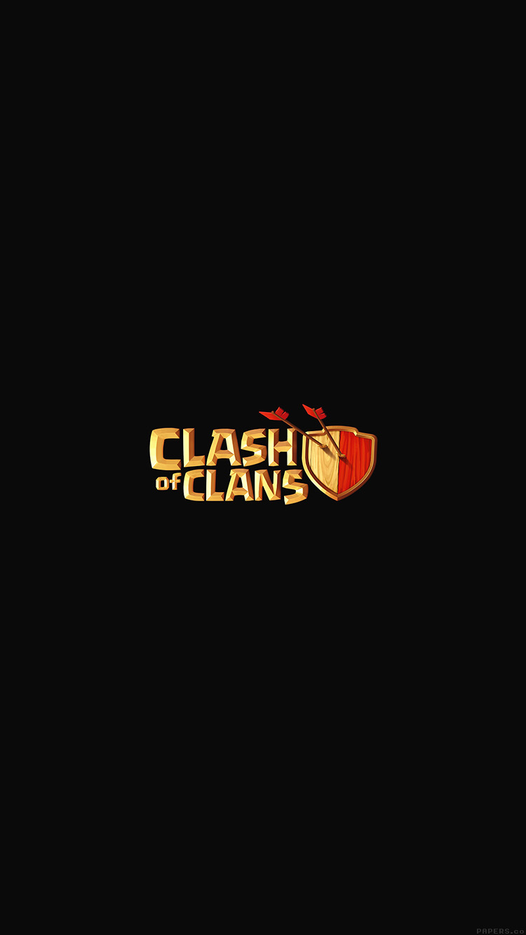 iPhone6papers.co-Apple-iPhone-6-iphone6-plus-wallpaper-aj83-clash-of-clans-logo-art-dark-game