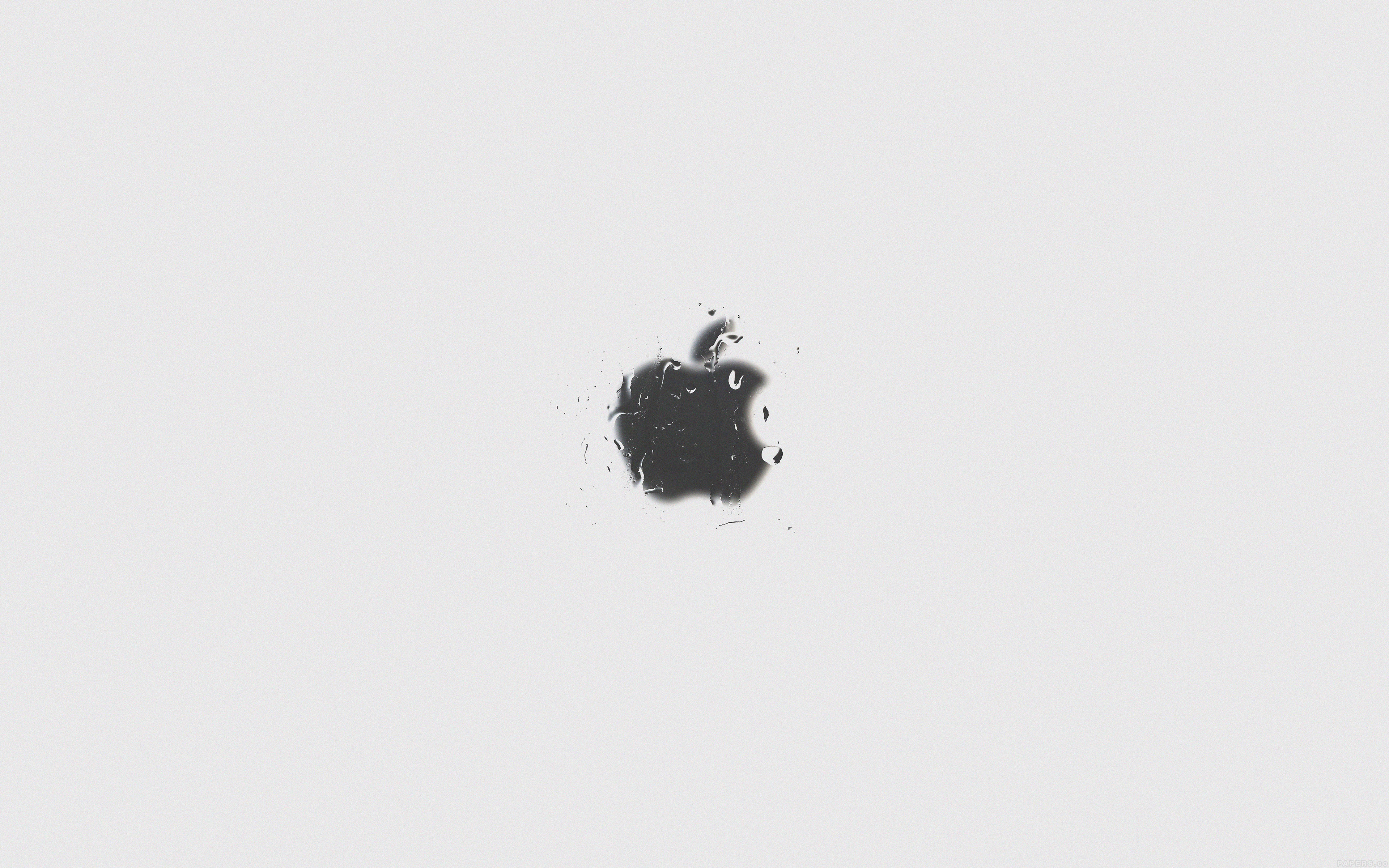 Aj89 Apple Logo White Simple Minimal Papers Co